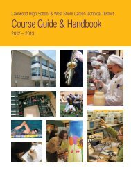 LHS Course Guide & Handbook - Lakewood City Schools