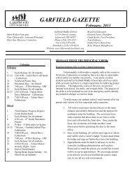 Garfield Gazette - Lakewood City Schools