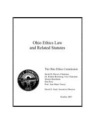 Ohio Ethics Law and Related Statutes