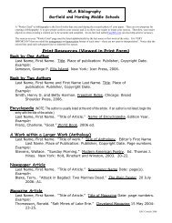 Bibliography Handout - Lakewood City Schools