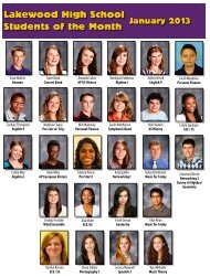 Students of the Month - Lakewood City Schools