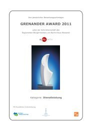 GRENANDER AWARD 2011 - AG City