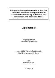 Diplomarbeit-Mareike Hagen-Bilingualer Unterricht-29.05.2009