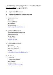 Zweisprachige Bildungsangebote an hessischen Schulen