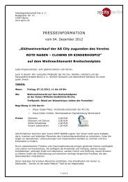 (2012_12_07_Presseinformation AG City_Gl\374hweinverkauf ...