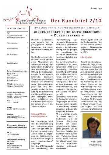 Rundbrief vom Juni 2010 - Hessen