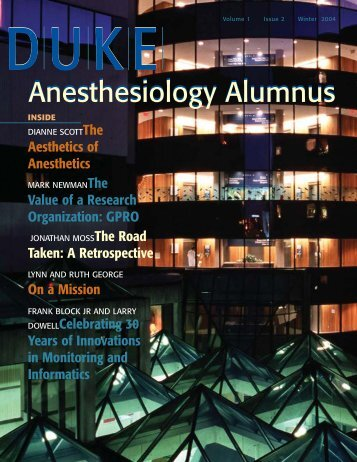04 wint anes alum single pgs - Department of Anesthesiology - Duke ...