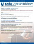 News - Department of Anesthesiology - Duke University - Page 3