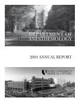 2004 Annual Report - Department of Anesthesiology - Duke University - Page 3