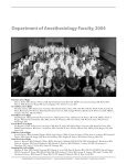 2004 Annual Report - Department of Anesthesiology - Duke University - Page 4