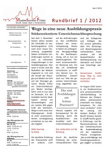 Rundbrief vom Mai 2012 - Hessen