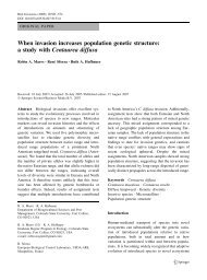 When invasion increases population genetic structure: a study with ...