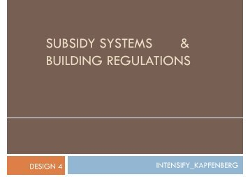subsidy systems & subsidy systems & building ... - lamp.tugraz.at