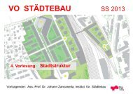 4. Vorlesung: Stadtstruktur VO Städtebau SS 13 - lamp.tugraz.at