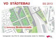 5. Vorlesung: Strukturmodelle VO Städtebau SS 13 - lamp.tugraz.at