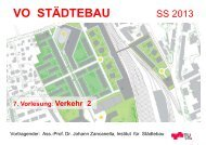 8. Vorlesung: Verkehr 2 VO Städtebau SS 13 - lamp.tugraz.at