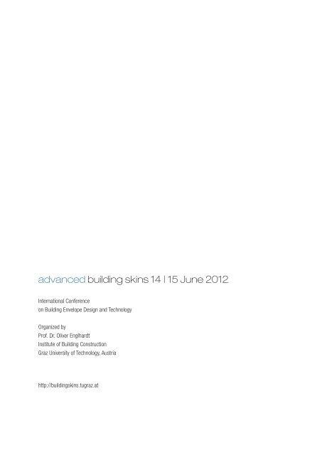 advanced building skins 14 | 15 June 2012 - lamp.tugraz.at - Graz ...