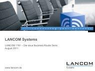 Die neue LANCOM Business Router Serie - LANCOM Systems GmbH