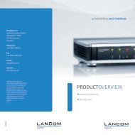 Product Overview - LANCOM Systems GmbH