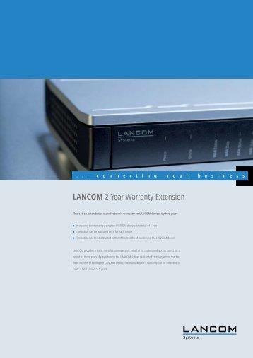 LANCOM 2-Year Warranty Extension - LANCOM Systems