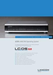 Datenblatt LCOS 8.6 - LANCOM Systems GmbH