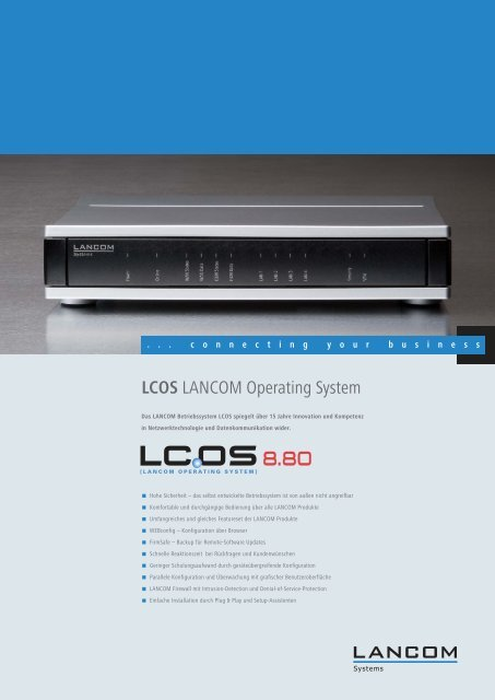 LCOS 8.80 Datenblatt - LANCOM Systems GmbH