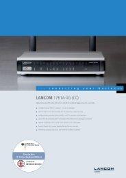Data sheet - LANCOM Systems GmbH