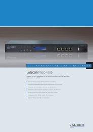LANCOM WLC-4100 - LANCOM Systems GmbH