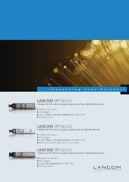 Datasheet SFP modules - LANCOM Systems GmbH