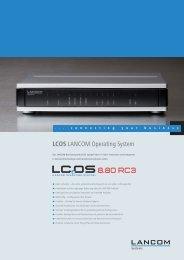 Datenblatt LCOS 8.80 RC3 - LANCOM Systems GmbH