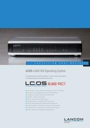 Datenblatt LCOS 8.82 RC1 - LANCOM Systems GmbH