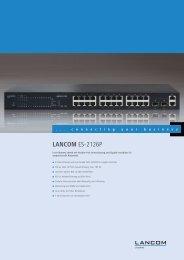 LANCOM ES-2126P - LANCOM Systems GmbH