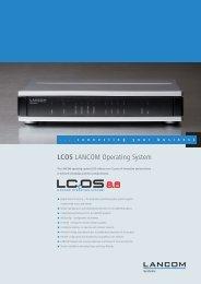 Data sheet LCOS 8.6 - LANCOM Systems