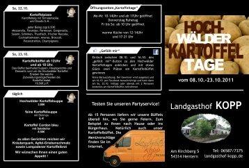 vom 08.10.-23.10.2011 - Landgasthof Kopp