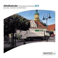 Abfallkalender Wotpadkowa protyka 2012 - Landkreis Bautzen