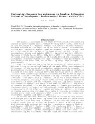 Pastoralist Resource Use and Access in Somalia: A ... - Land Portal