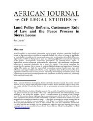 Land Policy Reform, Customary Rule of Law and the ... - Land Portal