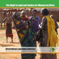 African Women's Land Rights Conference Final Report - ActionAid ...