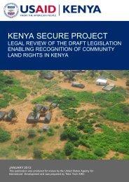 KENYA SECURE PROJECT - Land Portal