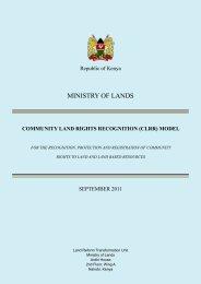 MINISTRY OF LANDS - Land Portal