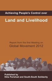 Achieving People's Control over Land and Livelihood - Land Portal