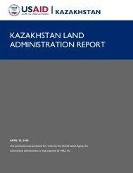 KAZAKHSTAN LAND ADMINISTRATION REPORT - Land Portal
