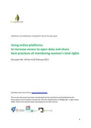 Using online platforms to increase access to open data ... - Land Portal