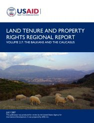 land tenure and property rights regional report - Tetra Tech ...