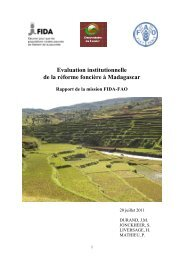 Rapport de la mission FIDA-FAO : Evaluation ... - Land Portal