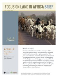 Lesson 3: Farmer Herder Conflicts - Focus on Land in Africa