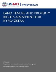 land tenure and property rights assessment for ... - Land Portal