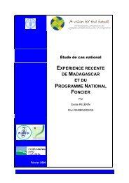 experience recente de madagascar et du programme ... - Land Portal