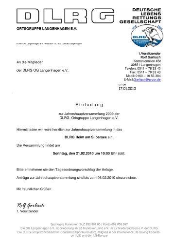 Jhptvsg10Einladung - DLRG Ortsgruppe Langenhagen eV