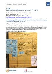 Protokoll BL-Runde vom 13 - Langenhorn Markt - Hamburg